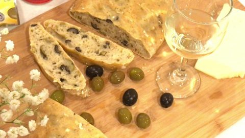 home baking cakes loafs breads olive bread wine white