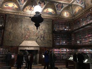 JP Morgan wall painting library room