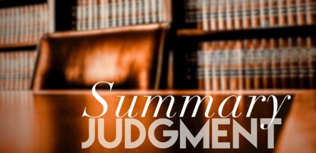Article 32 Summary Judgment